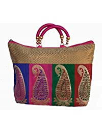 Ladies Fancy Purse Multi Canvas Tote Bag By ALIVE - B072PQFNB6