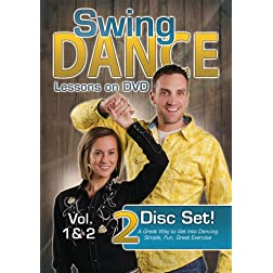 Swing Dance Lessons on DVD Vol 1 & 2 (Two Disc Set)