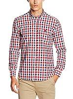 POLO CLUB Camisa Hombre Gentle Trend Sport (Rojo / Azul)