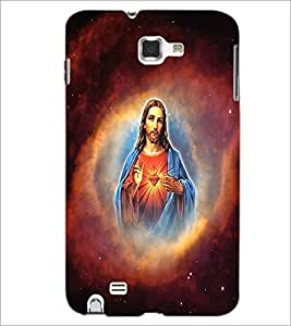 PrintDhaba Lord Jesus D-3751 Back Case Cover for SAMSUNG GALAXY NOTE 1 (Multi-Coloured)