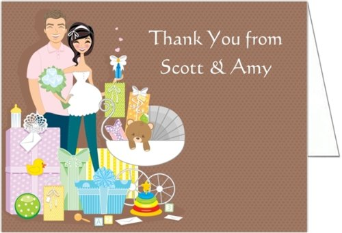 Baby Shower Gifts Couple Shower Baby Shower Thank You Cards - Set Of 20 front-1046364