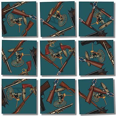 Scramble Squares Puzzle Historic Guns