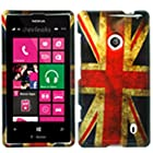 HJ POWER[TM] Nokia Lumia 521 Windows Phone 8 Hard Snap-on Case CoverEGPI-Vintage England Flag