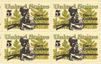 Davy Crockett Set of 4 x 5 Cent US Postage Stamps NEW Scot 1330