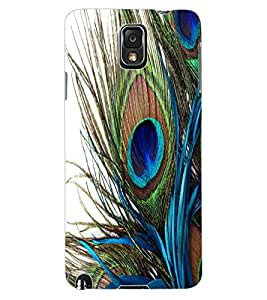 ColourCraft Peacock Feather Design Back Case Cover for SAMSUNG GALAXY NOTE 3