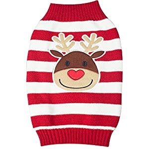 BOBIBI Pet Cartoon Christmas Elk Dog Sweater Cat Clothes