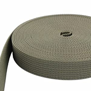 50m PP Gurtband - 20mm breit - 1,8mm stark - khaki (UV)