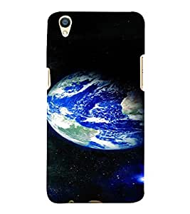 PrintVisa Beautiful Earth Design 3D Hard Polycarbonate Designer Back Case Cover for Oppo F1 Plus