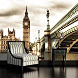 London Houses of Parliament Sepia Wallpaper Mural