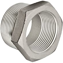 "Merit Brass Stainless Steel 316 Cast Pipe Fitting, Hex Bushing, Class 150, 3/4"" NPT Male X 1/2"" NPT Female"