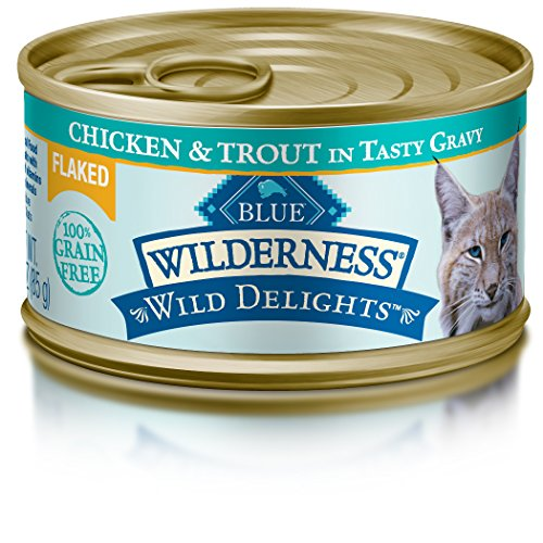 BLUE Buffalo Wilderness Wild Delights™ Flaked Chicken & Trout Recipe For Adult Cats