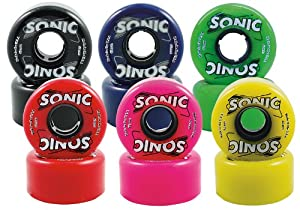 Sonic Colored Outdoor Wheels- Sonic Classic Outdoor Quad Roller Skate Wheels by Sure Grip