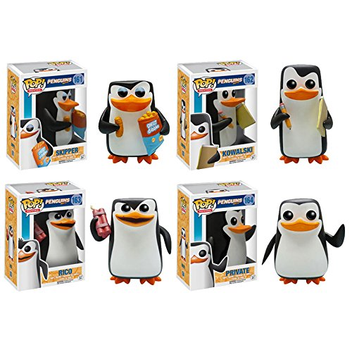 Funko POP! Movies: Penguins of Madagascar Vinyl Figure Set of 4 - Rico, Skipper, Private & Kowalski