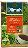 Dilmah Tea, Ceylon Supreme Tea, 20-Count Foil Wrapped Tea Bags (Pack of 6)