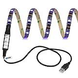 Lumières imperméables Ledex TV LED rétro-éclairage 100cm 5V RVB appropriés pour les téléviseurs, les ordinateurs de bureau, réservoir de poissons, décoration de voiture. (Garantie à vie)...