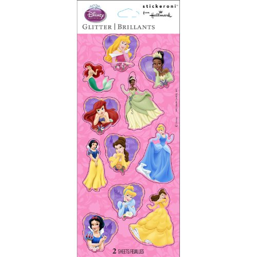 Disney Princess Glitter Sticker Sheets Party Accessory - 1