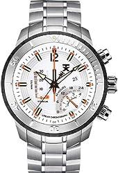 TX Men's T3C305 800 Series Linear Chronograph Dual-Time Zone Watch