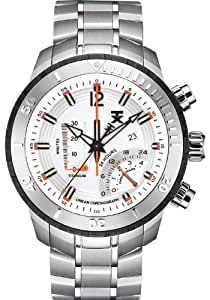 TX Men's T3C305 800 Series Linear Chronograph Dual-Time Zone Watch