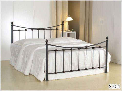 BRAND NEW 4ft BLACK METAL SMALL DOUBLE SIZE BED FRAME BEDSTEAD