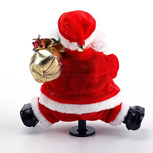dancing santa claus does the splits animated christmas decorations indoor plays jingle bells - Animated Christmas Decorations Indoor