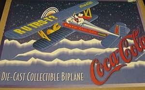 Coca Cola 1997 Die-Cast Collectible Biplane #F601