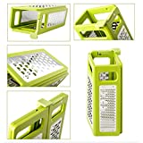 EzDeal 4 in 1 Foldable Stainless Steel 4-Sided Box Grater For Food Vegetable Slicer,Cheese 7.5x6inch