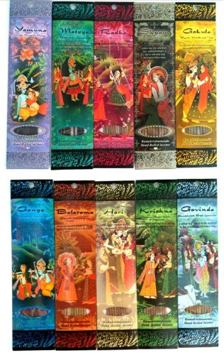 Ramakrishnananda Hand Rolled Incense 10 Assorted Scents (Vetiver Incense Resin compare prices)