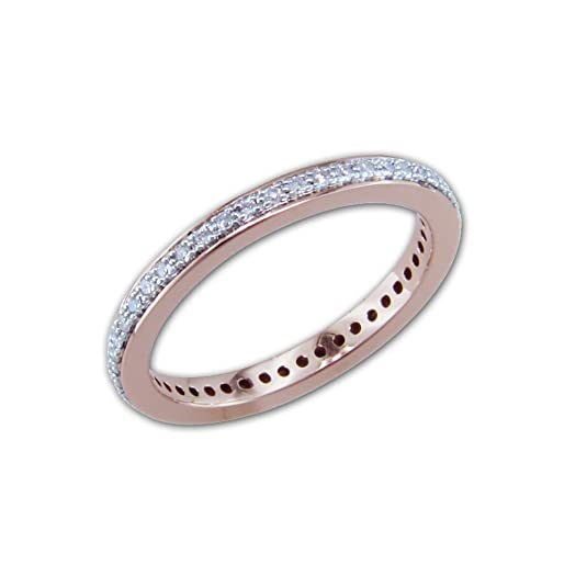 Posh Diamonds 14 white gold Eternity ring with 45 diamonds of approx 0.20ct in ring size O