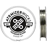 Genuine AtomizerWick Nichrome 80 Series 32 Gauge Resistance Wire - 100ft, 50ft & 25ft Spools Available (25ft)