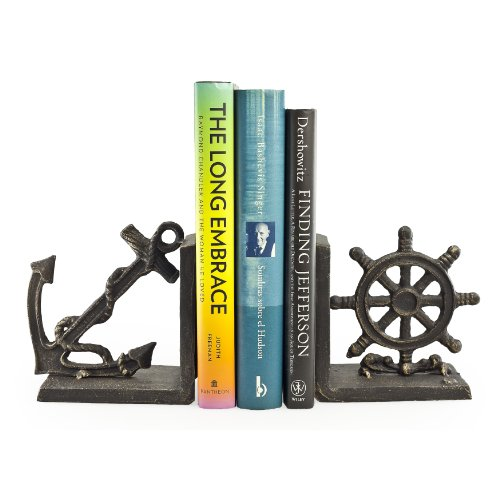 Nautical Metal Bookend Set