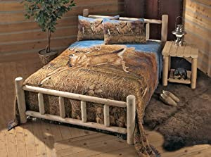 Rustic Natural Cedar Furniture Company Twin Cedar Log Bed