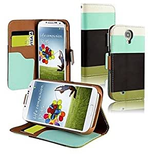 Colorful PU Leather Wallet Type Magnet Design Flip Case Cover for Samsung Galaxy S4
