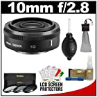 Nikon 1 10mm f/2.8 Nikkor Lens (Black) with 3-Piece UV/CPL/ND8 Filter Set + Cleaning & Accessory Kit