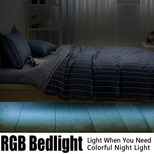 Iwonderful-Bewegung-aktiviert-Bunte-Licht-Bett-mit-flexiblen-Streifen-RGB-LED-Sensor-Nachtlicht-Beleuchtung-mit-automatischer-Abschaltung-Timer