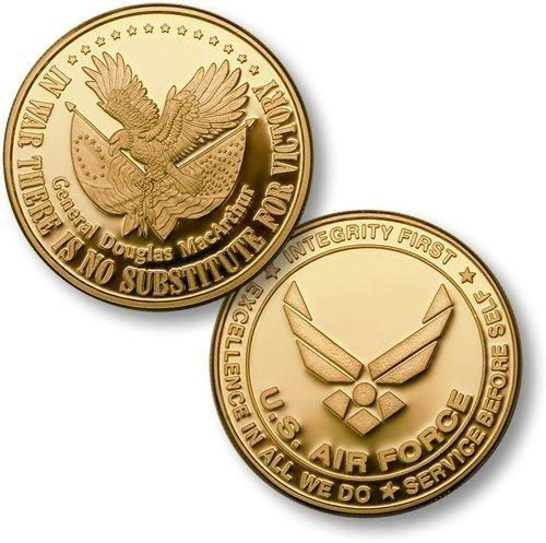 Victory USAF Emblem MerlinGold Challenge Coin