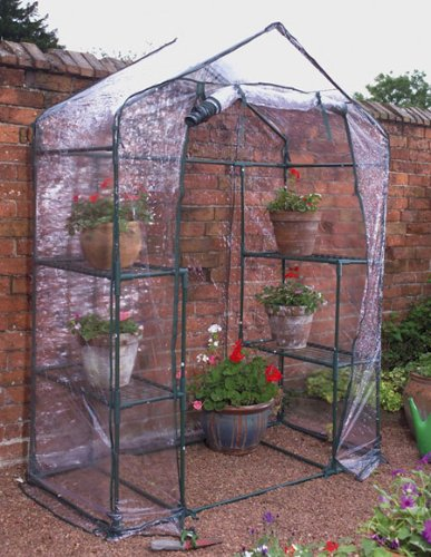 Walk In Mini Greenhouse Includes 4 Shelves