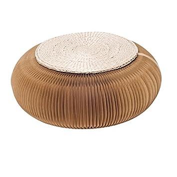 Mesa de centro de interior taburete corto plegable pequeño taburete sala de estar muebles de ocio en casa (estera de regalo al azar) ( Color : Marrón )