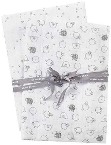 Schiesser Baby-Jungen Unterwäsche-Set Schmusetücher, 2er Pack, Mehrfarbig (Sortiert 1 901), One size (Herstellergröße: 001)