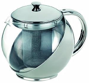 Kela 19800 Teekanne Luna Glas 1.1 Liter, edelstahl