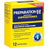 Pfizer Prep H Suppositories, 12 Count