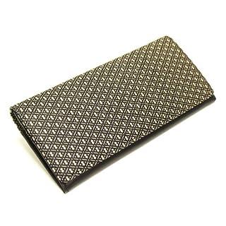 [古都印伝] 日本製 本革 長財布 薄型 ひょうたん ユニセックス 印伝 漆 和柄 (ベージュ)