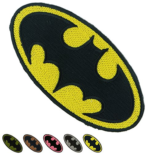 Iron Sew on Applique Patch : BATMAN Super Hero (Yellow) (2 Position Creeper compare prices)