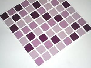 Tile makeover confezione da 10 adesivi a mosaico per for Maioliche adesive