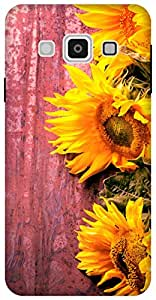 The Racoon Lean Fresh Sunflowers hard plastic printed back case for Samsung Galaxy A3