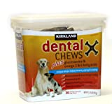 Dental Chews Plus Glucosamine & Omega 3 & 6 Fatty Acids, Chicken Flavored 36count 1.74lbs