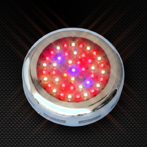 Sunfire 7-Band Led Grow Light 90W Ufo Chrome - High Powered Super Efficient 3 Watt Led Chips For Fast Growth