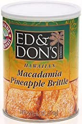 Ed & Don\'s Macadamia Pineapple Brittle 6 Oz Can (Pack of 2)