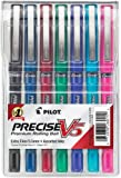Pilot Precise V5 Stick Rolling Ball Pens, Extra Fine Point, Assorted Colors, 7-Pack (26015)