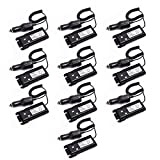10pcs ABBREE 12-36V Input Car Charger Battery Eliminator Alternative Power for Baofeng UV-82 UV-82HP UV-82C UV-82X UV-89 Two Way Radio (10)