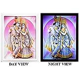 DollsofIndia Radha Krishna Plug-on Night Lamp With Adaptor - Acrylic - B016ABNDAQ